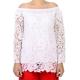White Cotton Blouse Without Shoulders WOMEN
