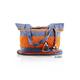 Mexican Folkart Gray Orange Colors Waist Loom Handbag BAGS & POUCHES