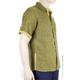 100% Linen Shirt Brown Green Effect Short Sleeve SHIRTS