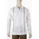 Hand Embroidered Irish Linen Cuban Wedding Shirt GUAYABERAS