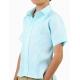 100% Linen Blue Short-Sleeved Shirt (Kids) SHIRTS