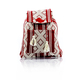Waist Loom Red White HandMade Backpack BAGS & POUCHES